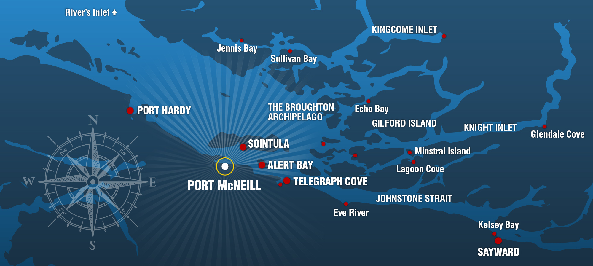 Port McNeill Water Taxi Map